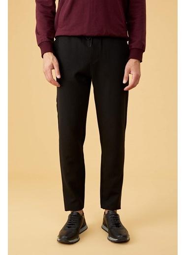DeFacto Beli Elastik Slim Fit Jogger Pantolon Siyah
